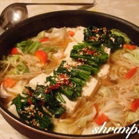 もつ鍋スープで♡もつなし!!とりと野菜のお鍋