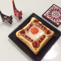 太陽の出ない日は、『太陽トースト』ウインナー、チーズとともに♪♪