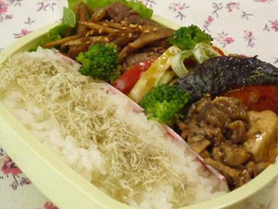 鮭バター焼き&茄子入り麻婆豆腐弁当~バナナマフィン