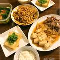 7月22日の晩ごはん(肉豆腐/豚肉とれんこんのピリ辛炒めなど)