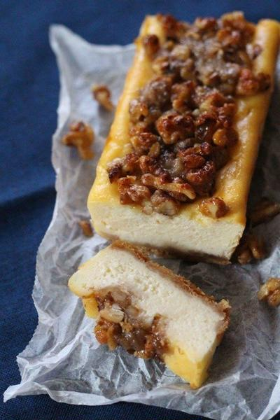 くるみとバナナのベイクドチーズケーキ