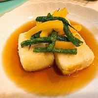 夏野菜の揚げ出し豆腐