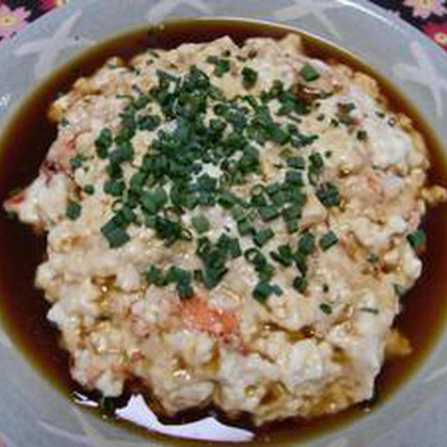 寒露  お豆腐と海老の蒸しもの