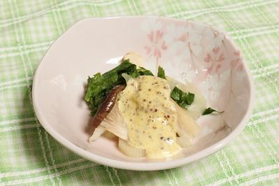 セロリとエリンギのハニーマスタードソース和え 調理時間5~15分