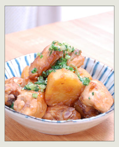 鶏肉とじゃがいもの甘辛さっぱり煮