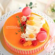 マンゴー&フランボワーズのケーキ(イタメレムース)