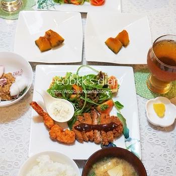 夜ご飯とお弁当の記録/My Homemade Dinner&Boxed Lunch /อาหารมื้อดึกและข้าวกล่องเบนโตะที่ทำเอง