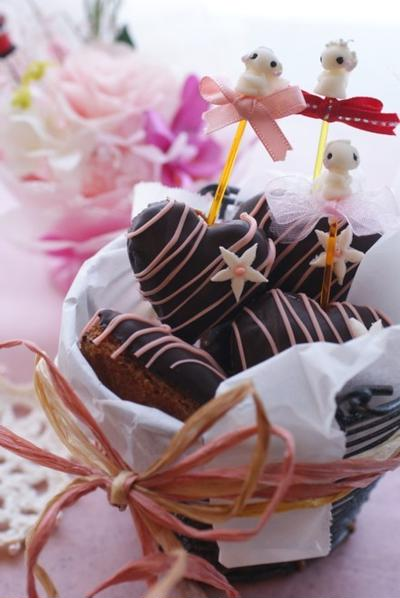 バレンタインチョコレートドーナッツ
