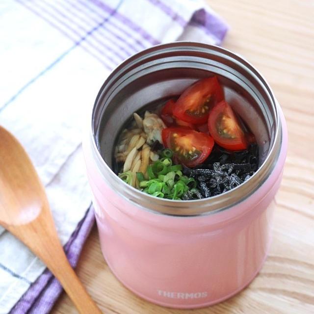 火を使わない!【あさりと塩昆布のトマト冷やし茶漬け】 #サーモス公式レシピ