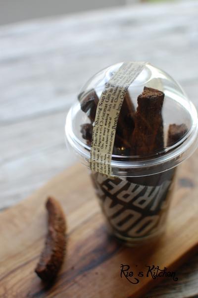 簡単チョコレートラスク 食パンの耳×チョコ×牛乳だけ!