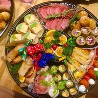 +*クリスマスオードブル ローストチキン 海老とサーモンのテリーヌ+*