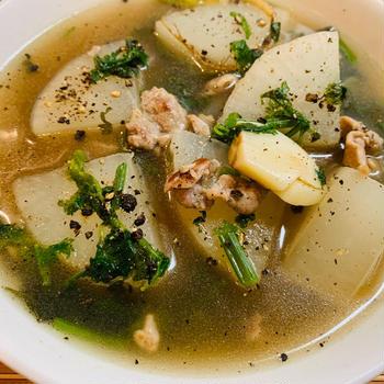 黒胡椒三段活用!大根のデトックススープ