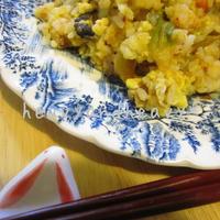 帆立キムチ炒飯。