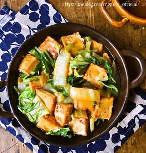 ♡ごはんがすすむ肉なしおかず♡厚揚げと白菜の中華とろみ煮♡【#簡単#時短#節約】