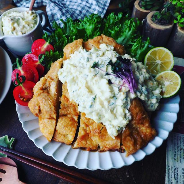 オムライス弁当❤️と、おかわりがとまらない❤️ほんのり和風の鶏むね肉チキン南蛮♪
