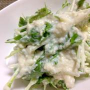 水菜と豆腐の簡単サラダ