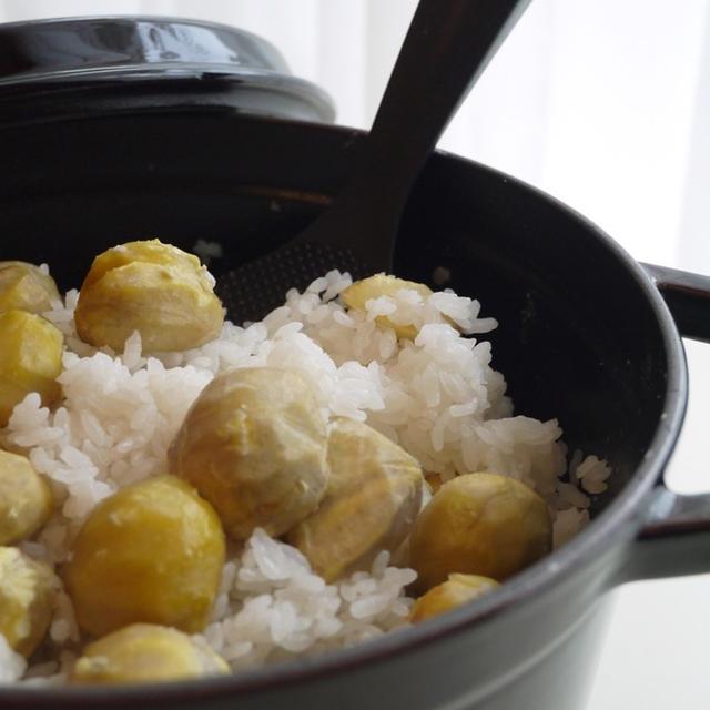 ストウブ鍋で炊く☆栗ご飯