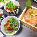 ノルウェーサーモンDe鱒寿司風&芽ネギ寿司