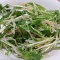 水菜とモヤシのサラダ