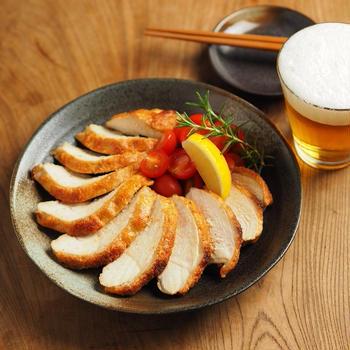 レシピブログ連載、鶏むね肉の辛子明太子焼き