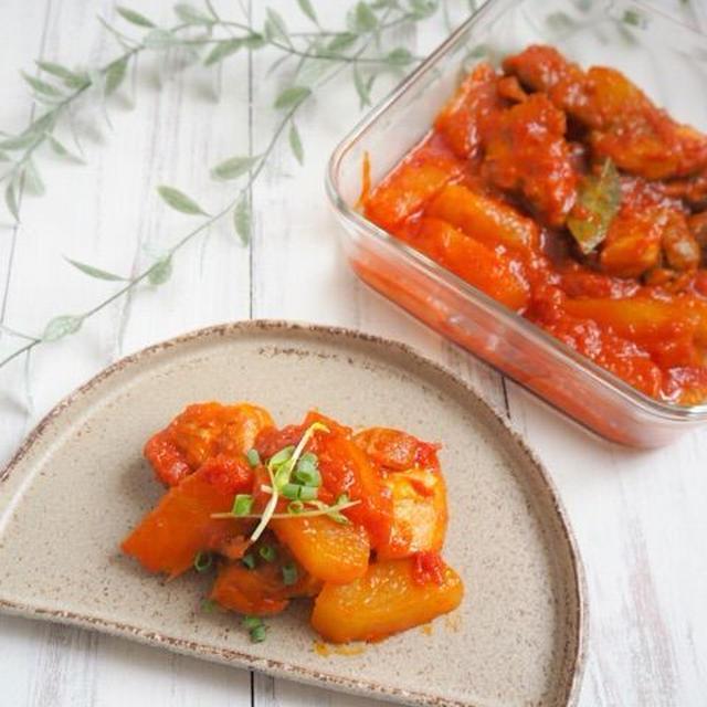 【レシピ・献立】作り置きもリメイクもできる、チキンと冬瓜のトマト煮