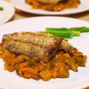 サンマのオーブン焼き・たっぷり野菜のトマトソース