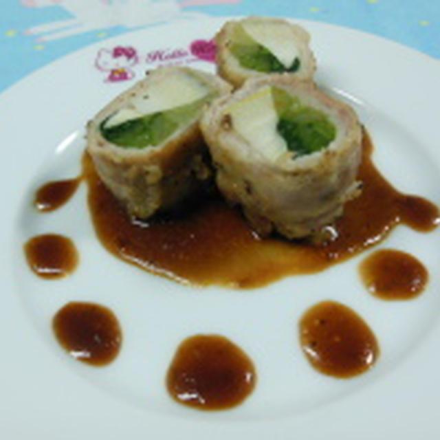 筍と小松菜の豚バラ巻