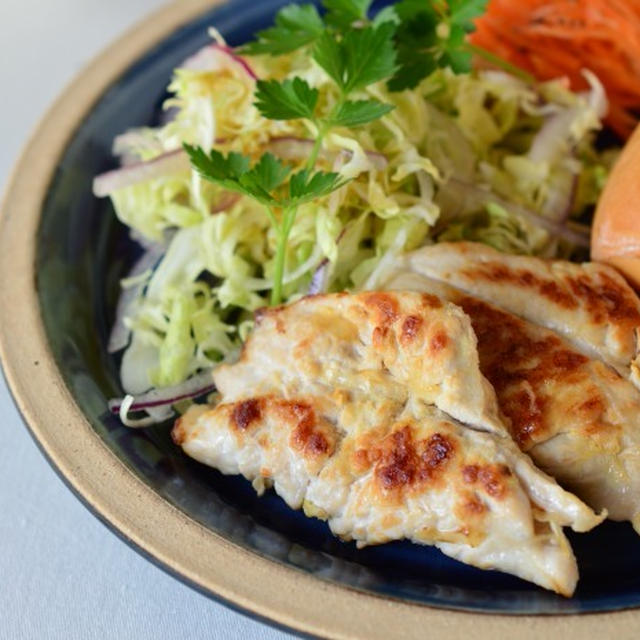 ☆鶏のささみ☆塩ゆず風味で 高タンパク低カロリー朝ごはん♪