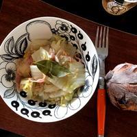 白菜とベーコンとツナの塩煮♡