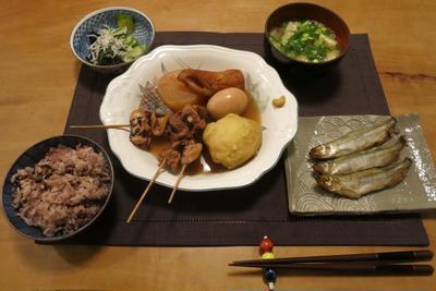 おでんの晩ご飯 と 3月の家庭菜園♪
