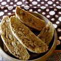 体に優しい、きな粉と胡桃のビスコッティ。(卵、バター、白砂糖不要)