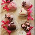* バレンタイン ❤ ハートのチョコパイ♪