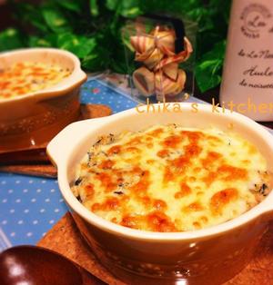 栄養満点♪ひじきの煮物からのお豆腐のヘルシー和風ドリア♡