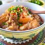 レンジで簡単!!豚ひき肉100gえのきでカサ増し厚揚げのピリ辛煮