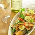 サバとレンコンの唐揚げ入り香味野菜サラダ