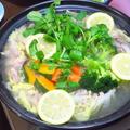 豚肉とクレソンの塩レモン・タジン鍋