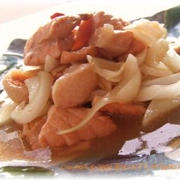 鮭と新たまねぎのさっぱり煮