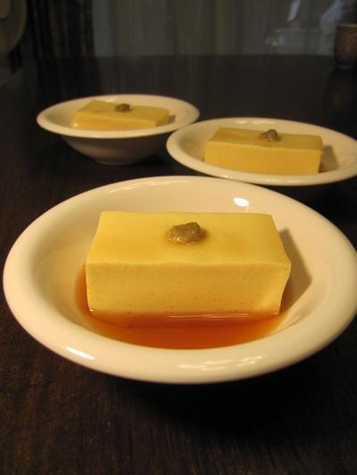 卵豆腐 鰯のゴマ揚げ