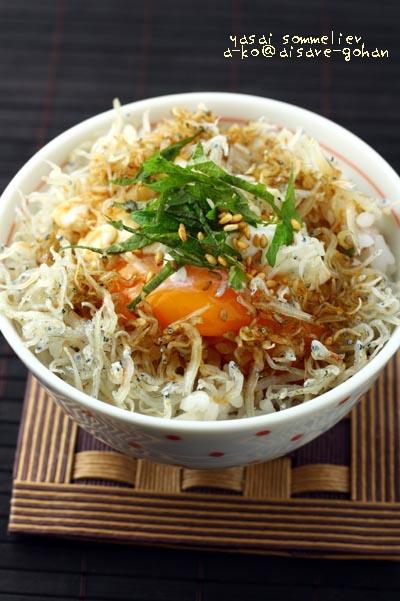"""「にんにく醤油つゆde簡単!豪華な""""卵かけご飯""""」"""