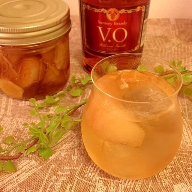 旬の果物で自家製フルブラ♪梨と生姜のフルーツブランデー