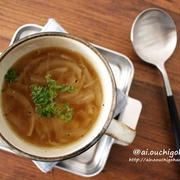 電子レンジで時短♡甘くて美味しいオニオンスープ♡