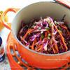 紫キャベツと人参のコールスローサラダ