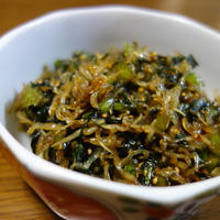 蕪の葉と雑魚炒め これだけでご飯がおかわり♪/おもてなしの下準備