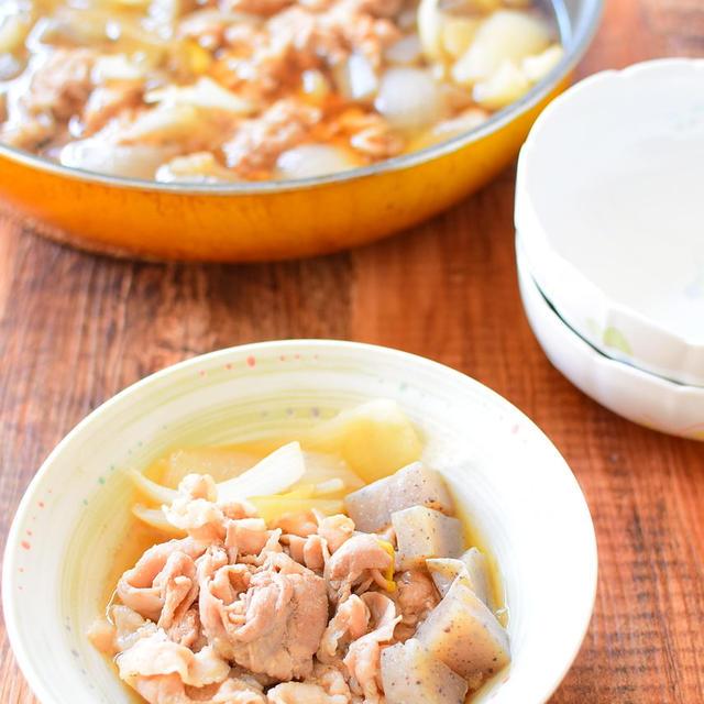 豚バラとこんにゃくのしょうゆ煮のレシピ