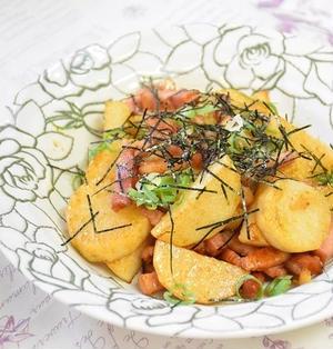 【スパイス大使】長芋とベーコンのカレー醤油炒め