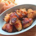 ヘルシー鶏むね肉の甘辛ゆず胡椒焦がし醤油オリーブ焼き唐揚げ