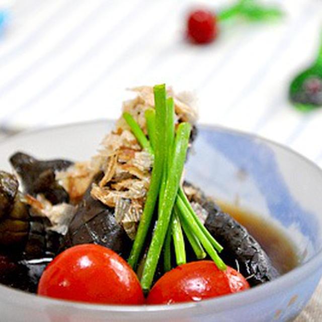 小茄子とプチトマトの揚げ浸し