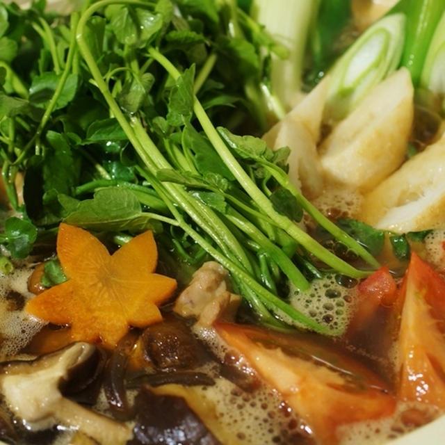 【愛菜とまと入りのキリタンポ鍋】 もう最高に旨い!!です~♪