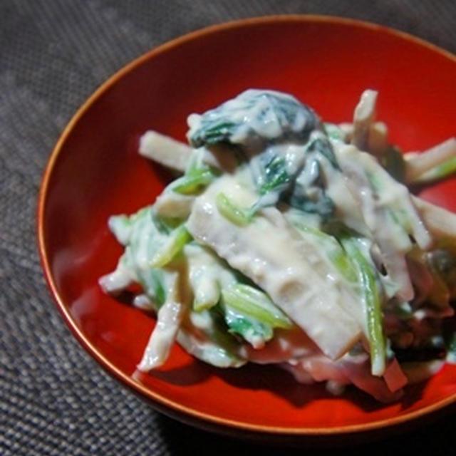 とろとろ葱と骨までとろける秋刀魚の味噌煮、子芋の炊き合わせと白ワインのマリアージュ