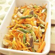 レンジで!エリンギと彩り野菜のカレー香味蒸し